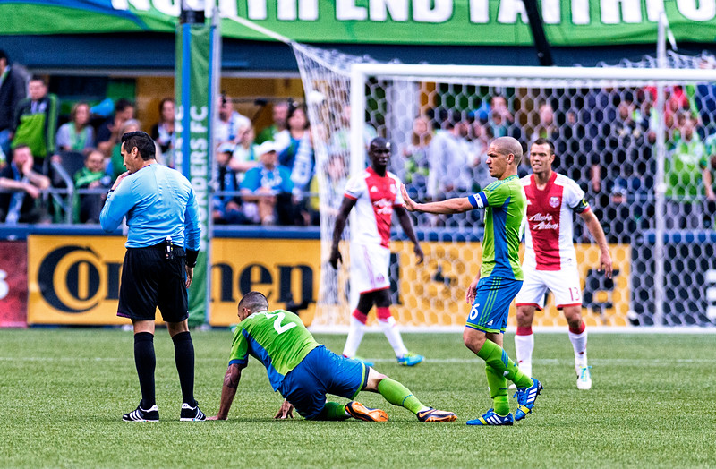 Dempsey goes down