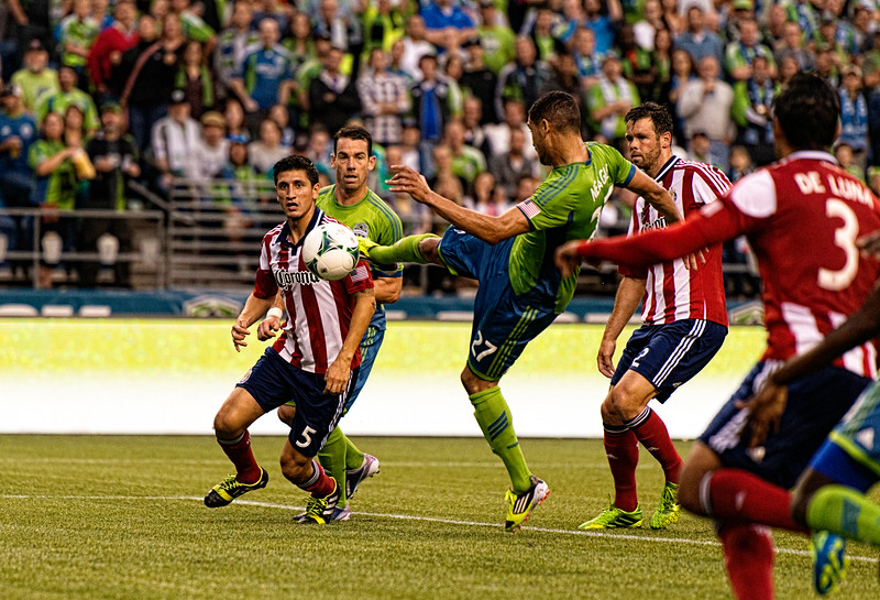Neagle pulls his own ninja kick, for the first (and only) goal of the game!