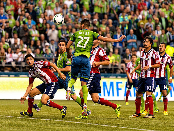 Neagle leaps to get the ball