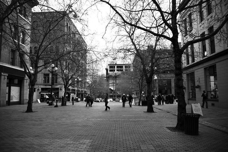 Occidental Avenue, only an hour and a half before the March to the Match.