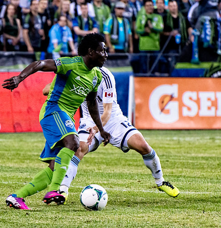 Obafemi Martins drums easily past the 'Caps