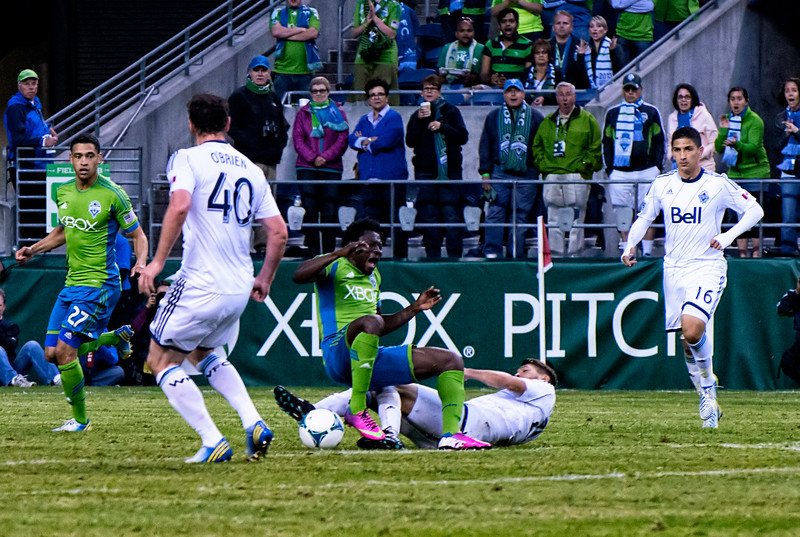 Obafemi Martins, taken down in the box.