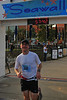 My 'gun time'. My official time was from the chip in by bib: 57:29 or a 9:15 mile/min pace.