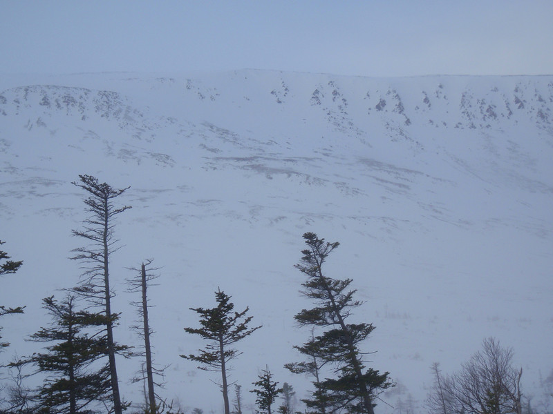 the ridgeline on lookers right of Trout River Bowl