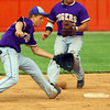 6-2-14 --  Sectional Baseball Finals Northwestern vs West Lafayette HS with Northwestern winning. Quinlan Armstrong scooping the ball up for a double play in the first inning.  ---<br /> Tim Bath   Kokomo Tribune