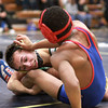 2-1-14<br /> Sectional Wrestling<br /> Eastern's Ty Swisher and Kokomo's Jabin Wright in the 106<br /> KT photo | Kelly Lafferty