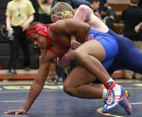 2-1-14<br /> Sectional Wrestling<br /> Kokomo's Cameron Fitts in the 285<br /> KT photo   Kelly Lafferty