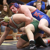 2-1-14<br /> Sectional Wrestling<br /> Kokomo's Fletcher Miller and Eastern's Evan Ellis in the 220<br /> KT photo | Kelly Lafferty