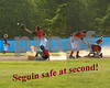 Seguin safe at second 8x10 text
