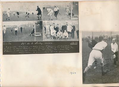 19301221 Onderschrift: zie foto Opmerking: rechts Simon van Groningen en Pe Wernink ???   AlbumSimonVanGroningen70  Fotograaf: onbekend  Formaat:  Afdruk zw