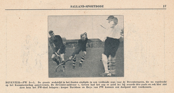 19321113 Onderschrift: zie foto Opmerking: wedstrijd 13 november 1932.   Collectie Blom in schrift