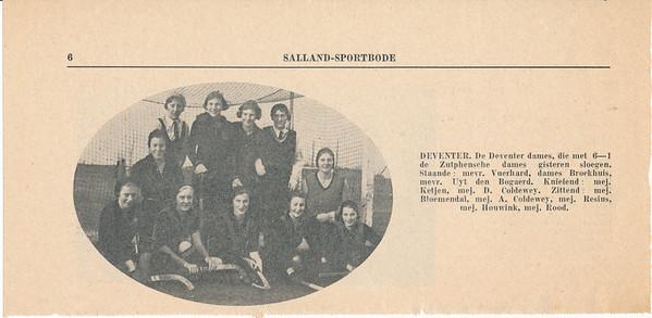 19321127 Onderschrift: zie foto  Opmerking: uit Salland-Sportbode   Collectie Blom in schrift
