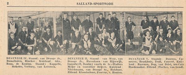 19321129 Onderschrift: zie foto Opmerking: uit Salland-Sportbode maandag 28 november 1932 eerste jaargang no. 9  (op ommezijde) Verschijnt elke maandagmiddag.Uitgave van AE. E. Kluwer   Collectie Blom in schrift