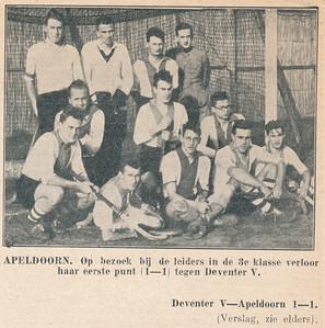 19321127 Onderschrift: zie foto Opmerking: wedstrijd op 27 november 1932. Zie schrift Jan Blom  Foto uit Salland-Sporbode 28 november 1932.   Collectie Blom in schrift