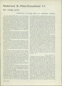 19360328nr1 Opmerking: verslag van de wedstrijd Nederland B- West-Duitsland in Deventer op 28 maart 1936.     Hockeysport  1935-1936 nummer 28, p.5