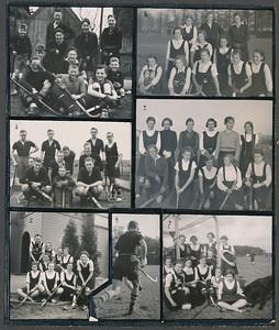 193705 Onderschrift: geen Opmerking: afgedrukt in Clubnieuws mei 1937. Onderschrift daar:  Bij de foto's 1. Het jeugdeftal: staande E.J. Bunschoten. A.v.d. Ven, E. Cohen, E. van Groningen, S. Klunk, knielend: J. Postma, H. Lammers, D. de Bie, zittend: H. de Breuk, P. Couvert, Th. Bloemendal  2 en 4 De elftallen, die aan de jeugdcompetitie deelnamen: op 2: st. Kuck de Jong, Hanni Bloemdendal, Machteld v. Doorninck, kn. Lies Pluim, Mia van Groningen, Stan Uyt den Bogaerd, zittend: Louki Resius, Joke Vervoort, Ria Hutjes, Betty Koster, Greta Scheenstra. op 4. st. Betsy Lucas, Iet v. Schelle, Liebeth ter Haar, Romeny, Jeanne Brutel de la Riviere, Cor Visman, Janny v. Dorssen, kn. Lien Tjeenk Willink, Marietje v Dam, Miek te Cate, Erica Staudt, Tini Kruys. 3. Het roemruchte vierde elftal: st. v.Nouhuys, W. ten Hove, Th. Thomassen, Maas, v.d. Dussen. Kn. Bucaille, J. van Groningen, ten Zeldam. z. J. ten Hove, J. de Bie, J. Coldeweij. 7. Onze dames in Breda: St. Paule Bunschoten, Jopie Broekhuis, Lot Brevet, Emmy v. Gendt,  Z. Ju Resius, Paula Broekhuis, Dini Wiegman, Iet Resius, Jet Stoffel, Adri Huyser, Sonja Delwig (in angst voor de hond)  5. Nogmaals de dames in Breda. 6 Jan van Groningen, de captain van het 4de in een karakteristieke houding.  (alles van links naar rechts)  JanBlomcremealbum Fotograaf: onbekend Formaat: 15 x 12.5  Afdruk zw