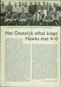 19380416 Artikel uit Hockeysport met verslag wedstrijd in Deventer op 16 april 1938.  Foto ook in Clubnieuws.