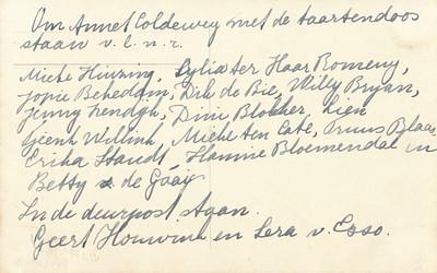 19381116 Achterzijde foto met taartjes