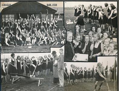 19381116 Onderschrift: Jubileum D.H.V. 1938 Opmerking: afgedrukt in Clubnieuws December 1938, p.44 en 45. Daar onderschrift: De Junioreswedstrijden. Ook verslag van deze wedstrijden op woensdagmiddag 16 november 1938. O.a. de taartjes vielen in goede aarde.  CollectieJanBlomcremealbum  Fotograaf: Van der Geijn volgens Clubnieuws  Formaat: 27 x 22  Afdruk zw