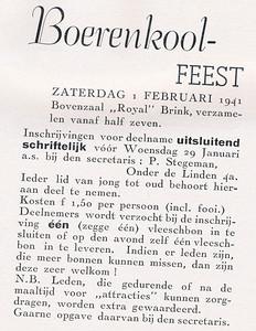 19410201 Aankondiging 5de Boerenkoolfuif  Clubnieuws Januari 1941