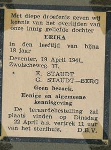 19410419 Opmerking: advertentie in Deventer Koerier ??   CollectieHorstBruijngrijsalbum Formaat: 6 x 4