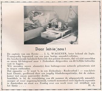 194012 Onderschrift: zie foto   Clubnieuws december 1940  Fotograaf: onbekend Formaat: 8.5 x 6 Afdruk zw