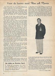 1956 september ?   Opmerking: stukje van Seger Klunk over afscheid Rex Norris.  Stukje staat ook in Clubnieuws 18 (1956-1957) nr 1 september 1956, p. 11 en 12. maar zonder foto.  Collectie Loes Roos