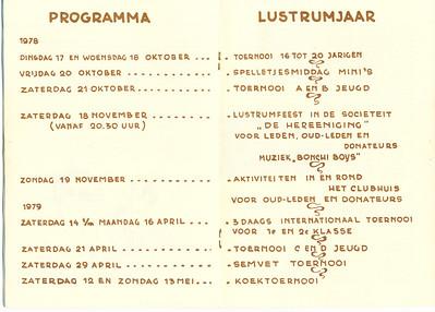 19781017 Programma lustrumjaar 1978   De Telescoop 40e jaargang speciale editie pagina 12 en 13