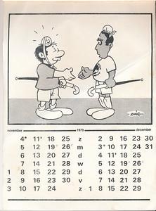 Kalendernr7  Collectie Marion Haaxman-Treffers Maker: John (Hayward?) Formaat: 31 x 21 Zw