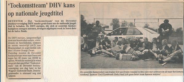19930424 Onderschrift: geen  Opmerking: niet gevonden Deventer Dagblad. Ws. uit Deventer Post?   Collectie Ed van Orden