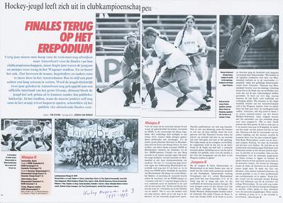 199306 Artikel in Hockey Magazine ed. 9, juni 1993, p.30 en 31   Meisjes B 1 Deventer in landelijke kampioenschap