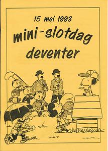 19930515 Onderschrift: zie foto Opmerking: programma Mini slotdag 15 mei 1993 Zie verder archief DHV  Collectie Maarten van Orden. Schenking archief DHV
