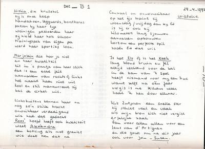 19930428 Onderschrift: geen Opmerking: gedicht in Telescoop van 28 april 1993 van dejj (= Derk Josephus Jitta) n.a.v. kampioenschap MB1 op 24 april 1993. Eerste stuk.