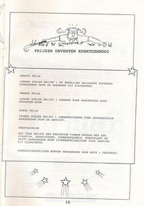 19950527nr16 Boekje tgv Koektoernooi 1995   Collectie Henk Pott   Formaat: A4