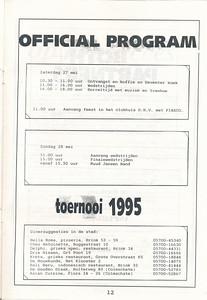 19950527nr12 Boekje tgv Koektoernooi 1995   Collectie Henk Pott   Formaat: A4