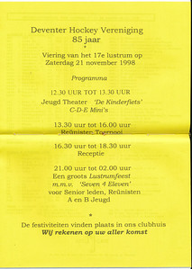 19981121 Programma Lustrum 1998  De Telescoop 2 november 1998, middenblad