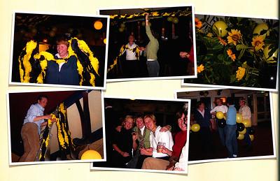 20031118 Onderschrift: geen Opmerking: ophangen versiering lustrum 2003 door Dames Veteranen  Vergelijk foto's lustrum  Collectie MGV boek voor MGV van Marjolijn Jaspers  Fotograaf: Marjolijn Jaspers  Formaat: boek 29 x 22  Afdruk kleur