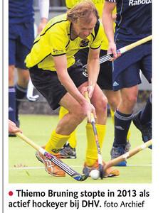 20150909 Onderschrift: Thiemo Bruning stopte in 2013 als actief hockeyer bij DHV Opmerking: dus uitsnede uit foto van 2013.   De Stentor 9 september 2015 uit Digitale krant  Fotograaf: ? Formaat: ? Digitaal kleur