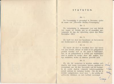 19241128nr02 Statuten 28 November 1924 pag. 2 en 3   Archief DHV