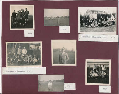 1924 Onderschrift: zie foto Opmerking: volledig albumblad 1924 en 1925 op 300 dpi gescand  ArcheifDHVAlbumDrijver Fotograaf: onbekend Formaat: nvt Afdruk zw