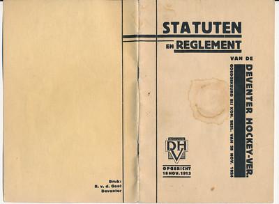 19241128nr01 Statuten DHV 28 november 1924 voor en achterzijde   Archief DHV