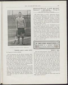 19271223 Opmerking: foto dat seizoen gemaakt? Zie ook andere foto.    De Corinthian 23 december 1927.
