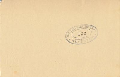 194109 Achterzijde lidmaatschapskaart H. Bloemendal  Zie verder daar.