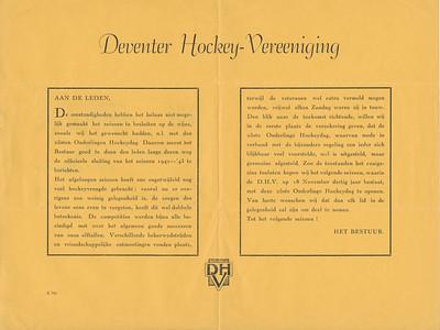 19430602 Medelingenblad juni 1943. Poststempel 2 juni 1943.   Archief DHV