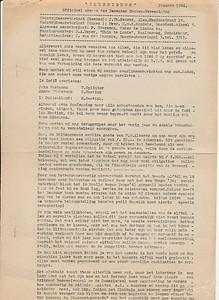 194601nr1 Nooduitgave Clubnieuws januari 1946 Pagina 1 Pas in oktober 1946 verscheen het normale Clubnieuws weer.  De laatste twee regels kondenn iet worden gescand. Er staat daar:  gelijk verdwijnen. Wie van de Dames neemt de leiding op zch?   ArchiefDHV