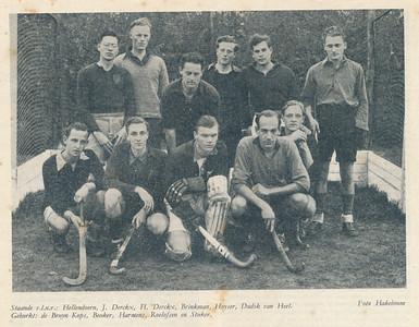 19461020 Onderschrift: zie foto Opmerking: mogelijk op 20 oktober 1946 Wedstrijd tegen DKS.   Clubnieuws  9 (1946-1947)2 p.5  Fotograaf: Hakeboom Formaat: 15 x 11  Afdruk zw