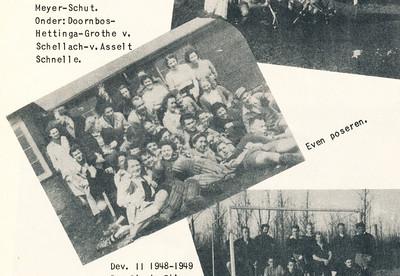 Foto komt ook voor in collage. Onderschrift daar: tijdens de hockeydag.   Clubnieuws 15 (1953-1954) 2 november, p. 22