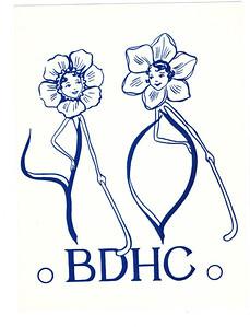 19560330 Kaart BDHC ontvangen op toernooi. Achterop alle handtekeningen.  Collectie Loes Smit Formaat: 16 x 12