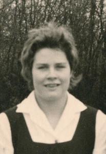 Loes Roos Vergroting uit foto van Dames 1 30 maart 1959. Gemaakt t.b.v. jubileumboek