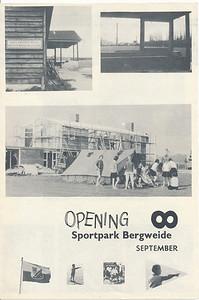 19620908nr1 Flyer uitgegeven ter gelegenheid van de opening van de Bergweide op 8 september 1962, voorzijde   Archief DHV  Formaat: 24 x 16 Afdrukken zw